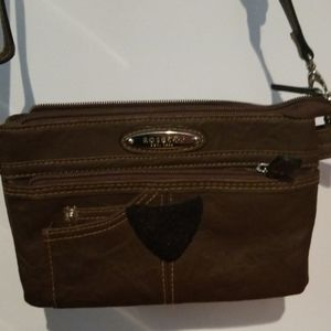 Brown Rosetti hand bag in slightly loved condition
